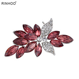 $enCountryForm.capitalKeyWord Australia - Big Crystal Women Brooches Pins Plant Brooch Pin Garment Jewelry Flowers Women Scarf Brooch For Dress Classic For Gift