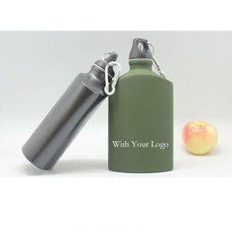 cold steel aluminum NZ - Kitchen Accessories Stainless Steel Tumbler Outdoor Sports Cold Kettle Drink Wine Water Bottle 500ml Hip Flasks Aluminum Black Green