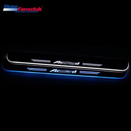 Lighted pedals online shopping lighted pedals for sale 4pcs led car moving light nerf bar pedal for accord 8th 9th spirior 2008 2016 scuff tirm plate door guards welcome pathway aloadofball Images
