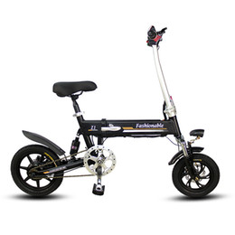 $enCountryForm.capitalKeyWord NZ - 14inch Portable folding electric bike mini adult e bike lithium battery powered motorcycles Two-disc brakes electric bicycle