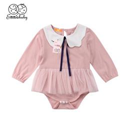 935e4e58d1 2018 Latest Children s Wear Infant Toddler Newborn Baby Girls Cotton Romper  Swan Collar Bodysuit Playsuit Outfits Clothes 0-24M