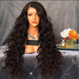 $enCountryForm.capitalKeyWord Australia - Human Hair Full Lace Wig Brazilian 100% Virgin Hair Loose Curly Wigs with Natural Hairline Glueless Lace Front 130%Density With Baby Hair