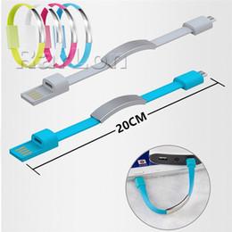 Bracelet Main Poignet Data Sync Chargeur de Charge USB Câble De Charge Rapide Portable Noodle Usb Chargeur Câble Pour Micro V8 Android