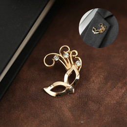 east star wholesale NZ - Golden Star Mask Flower Imitation Pearl Brooches Pins For Mens Suit Shirt Collar Clip Hat Backpack Badge Lapel Pin Fashion Breastpin Broach