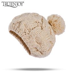 $enCountryForm.capitalKeyWord UK - TRUENJOY Pom Pom Hat For Ladies Women Winter Hat Knitte Beanies Fashion Skullies Beanies Female Cap Cute Warm Dropshipping