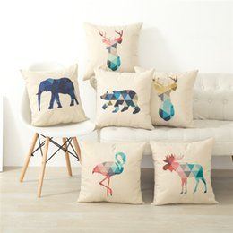 nordic cotton Canada - New Pillow Cover Hot Cotton Nordic Simplicity Animal Triangle Geometry Abstract Pillowcase Linen Cushion Cover Home Textile Home Decoration