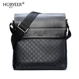 00e6104212 HORYEER sacoche homme special offer leather messenger bag fashion men  business crossbody bag brand POLO Shoulder briefcase