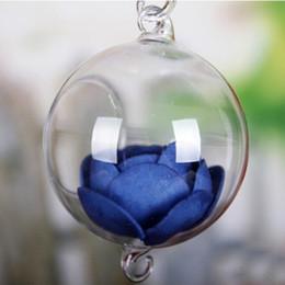 Discount glass hanging ball terrarium Clear Ball Glass Hanging Vase Bole Terrarium Container Planter Decor