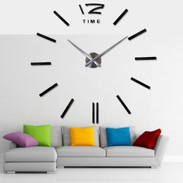 $enCountryForm.capitalKeyWord UK - 2018 Hot Selling 3d real Big Wall Clock Rushed Mirror Sticker Diy Living Room Decor Big Wall Clock Rushed Mirror Clocks