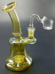 $enCountryForm.capitalKeyWord Australia - New Gold Bong Glass Dab Rig Bongs Water Pipes Wax Oil Rigs Mini Perc Pipe Honeycomb Small Filter Heady Beaker Bowl Ceramic Nail