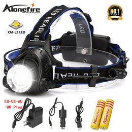 cree bicycle NZ - AloneFire HP79 CREE XM-L2 LED 4000LMRechargeable Zoom Headlight LED Headlamp Bicycle light Searchlight for 18650 Battery