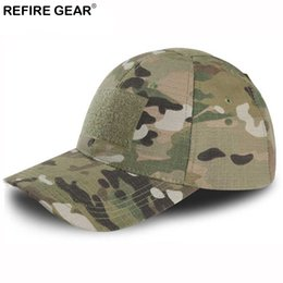 Chinese  ReFire Gear Outdoor Snapback Camouflage Hat Hiking Hunting Baseball Cap Men Rip-Stop Adjustable Fishing Camping Jungle Caps manufacturers