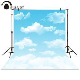 cartoon baby background Australia - Allenjoy Photography Backdrop cartoon blue sky white cloud newborn baby background props photocall photobooth Photo studio