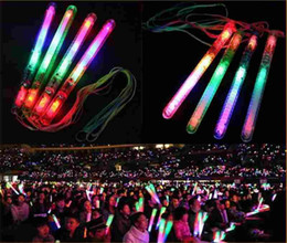 Glow Stick Party Decorations Australia - Multi Colorful 7 Modes LED Flashing Night Light Lamp LED Glow Sticks with strap Party festival Camp