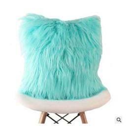 Knit throw pillows online shopping - Cushion Cover Soft Plush Faux Fur Fashion Pillowcase Sofa Throw Pillows Cover Wedding Home Car Decorative Colors cm DHL