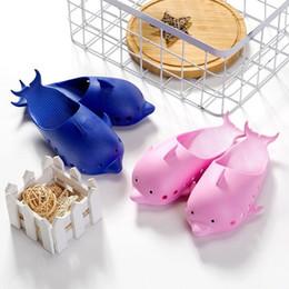 $enCountryForm.capitalKeyWord Australia - 4 Colors Dolphin Flip Flops Love Sandals Pink Letter kids slippers Shoes Summer Soft Beach Slipper 2pcs pair T1I563