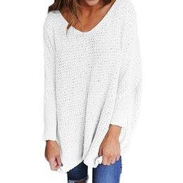 0554f99d0f3 IYAEGE Pull Femme 2018 Autumn Sexy V Neck Knitted Sweater Women Coat Casual  Tricot Long Sweater Women Christmas Jumper Pullover