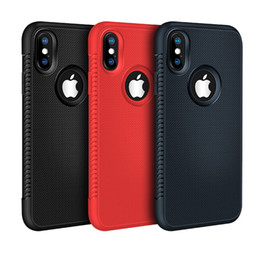 ingrosso iphone silicone 6s cassa del telefono-Custodia Slim per iPhone X XR XS MAX S Plus a nido d ape in gomma morbida