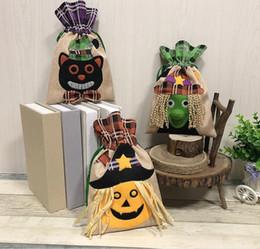 01d72ec265 Kids party bag toys online shopping - 3styles Halloween Drawstring Candy Bag  Witch Pumpkin Black Cat