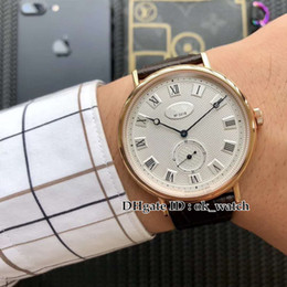 Luxury Watches Heritage Australia - NEW 5920BR 15 984 Classique Heritage Men's Automatic Watch white dial Leather strap High quality Rose gold case fashion Gents watches