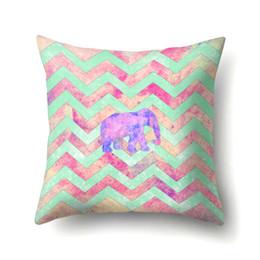 c487e934e0bb Factory direct sale peach skin pillow pillow case creative elephant pattern  home pillowcase pillow cover cushion cover