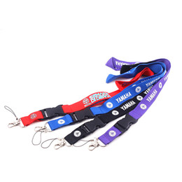 lanyard usb key NZ - Motorcycle Logo Keychain Lanyards Neck Strap Key Ring Keychain Lanyard For Phone Keys USB Holder DIY Hang Rope Lanyard