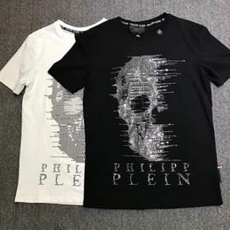Nueva moda verano cráneo 3d impreso Phillip llanura camiseta hombre Hip Hop  O cuello manga corta camiseta hombres PP Tamaño grande M ~ 3XL 6559228a86d