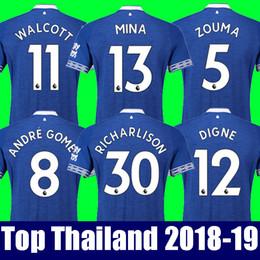 Top thailand EVERTON fc soccer jersey 2018 2019 MINA ANDRE GOMEZ ZOUMA DIGNE  RICHARLISON WALCOTT Everton jersey 18 19 football kit shirt 93a3c5398
