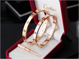 $enCountryForm.capitalKeyWord Australia - Quality Celebrity design Metal Buckle Screws diamond bracelet Metal Cuff bracelet Gold Jewelry With Box