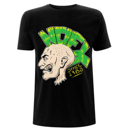 02c3d844 Nofx Mohawk Logo Punk Rock Official Tee T-Shirt Mens Unisex T Shirt Men  Camisa Masculina White Short Sleeve Custom Big Size Couple Camiseta