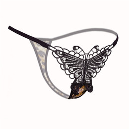 b5ece9ea5346 Lace G-String Women Sexy Butterfly Underwear Intimate Low-Waist Thongs G  String Panty Ladies Women Embroidery Underwear Lingerie Panties