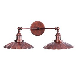 Rustic wall light fixtuRes online shopping - Black Rustic Copper Wall lamp Industrial American Iron vintage lighting fixture indoor lighting wall lamps lighting