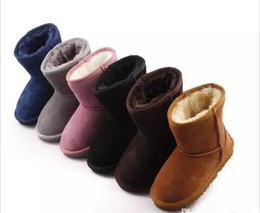 Discount boys black leather boots - 2018 will sell the new real Australian WGG high quality kids boy girl children baby warm snow boots juvenile student sno