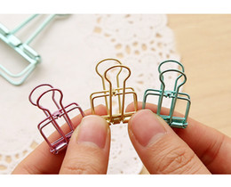$enCountryForm.capitalKeyWord Australia - Cute Kawaii Colorful Metal Paper Clips Binder Clip For Photo Message Ticket File Office School Supplies Clips Stationery