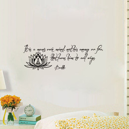 Bathroom Wall Sticker Quotes Australia - It Is A Man'S Own Mind Wall Stickers Quote And Sayings Home Decoration Wall Decals Buddha Lotus Stickers