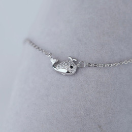 2018 NEW Necklaces 100 925 Silver Clavicle Chain Lovely Whale Ornaments Korean Miniature Jewelry Birthday Gift For Women