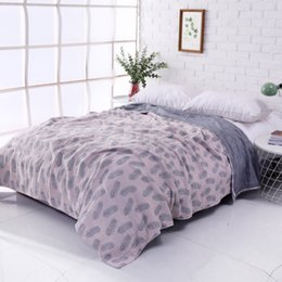 Cotton Soft Muslin NZ - 4-layer 100% Cotton Blanket 200x220cm Woven Throw Blanket for Bed Soft Muslin Blankets for Sofa Adults