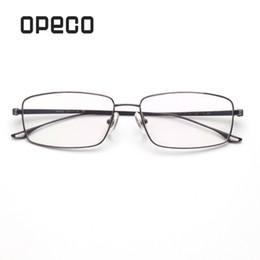 926d2fd1d9 Opeco Men s Pure Titanium Eyeglasses Frame RX able Glasses Full Rim Light  Weight Myopia Optical Eyewear