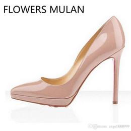 af959504d6c5 2018Classic Hot Sales Nude Patent Leather High Heels Women Pumps