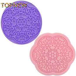 Chinese  Hot Dia 9.8CM lace silicone mold cake molds flower lace fondant cake decorating tools DIY silicone mould C1771 manufacturers
