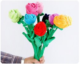 flowering ball toy NZ - 30cm Multicolor simulation rose plush toys curtain buckle wedding throw flowers ball gift Valentine gift party activities gifts