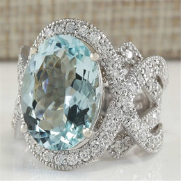 Top China Wholesale Fashion Jewelry NZ - Top Quality Natural Crystal Cubic Zirconia Silver Color Rings For Women Fashion Jewelry Wedding Zircon Statement Ring