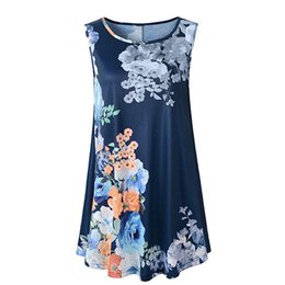 Discount hot sexy girls t shirts - Hot Fashion Summer Tank Tops Women's Vintage Floral Printed Shirt Girls Lady Sexy Sleeveless Casual Loose T-Shirt C