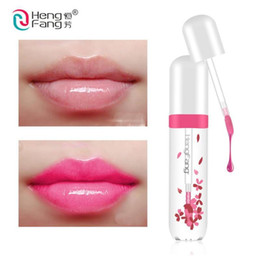 $enCountryForm.capitalKeyWord UK - Brand HengFang Temperature Changing Color Cherry Blossom Red Color Lip Gloss Moisturizing Lip Gloss Long Lasting Lipstick Free Shipping