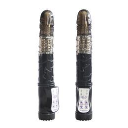 Noir Dildo Sex Produits Multi Fonction Lapin Vibrateurs G-spot Vibrateurs Rotation Dildo Vibromasseur Sex Toys Pour Les Femmes