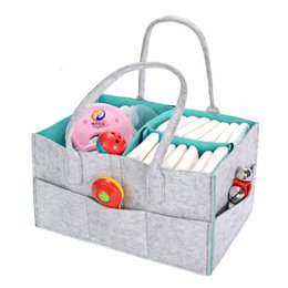 China Foldable Baby Diaper Caddy Organizer Nursery Storage Bag For Diapers Wipes Kid Toys Portable Car Storage Basket Baby Gift Bag cheap car storage caddy suppliers