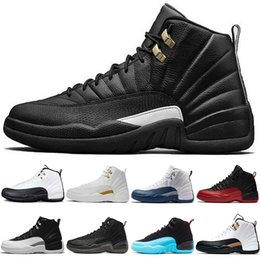 rubber games 2019 - Cheap Basketball Shoes 12 12s Men Taxi The Master Flu Game French Gamma Blue Black White Playoffs Mens Athletic Sports S