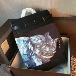 Marca Nueva Mochilas Hombres Bolsa CX # 140 Steamer Real Canvas Leather AAA + Calidad Elephant Dinos Chapman School Bags líneas Hobo Bags Carteras en venta