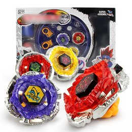 Discount beyblade shipping - New Free Shipping 4pcs set Beyblade Arena Spinning Top Metal Fight Beyblad Beyblade Metal Fusion Children Gifts Classic