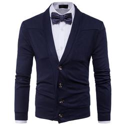 Autunno inverno vestiti nuovi uomini moda casual maglione britannico retrò con scollo a V cardigan uomo maglione sottile giacca di alta qualità